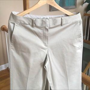 Women's Orvis Khaki Pants Straight Leg Cotton 10